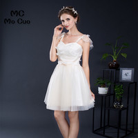 Cheap 2017 Homecoming Dress Cap Sleeves Flowers Embroidery Cocktail Party Dress Evening Party Dress Short Homecoming