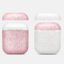 Nowy stylowy kolor cukierki silikonowy futerał na słuchawki Bluetooth dla Airpods pokrowiec ochronny do torby do ładowania Apple Airpods