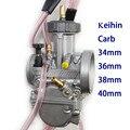 O envio gratuito de boa potência 34 36 38 40mm PWK KEIHIN carburador da motocicleta Do Carburador universal usado scooter UTV ATV KTM moto