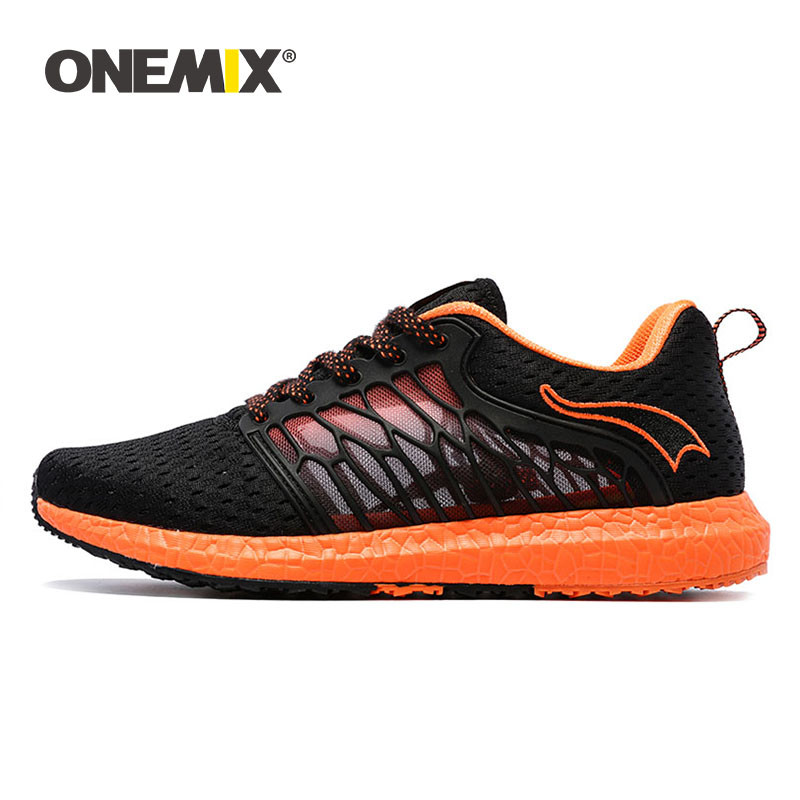ONEMIX Men Running Shoes Breathable Mesh Lightweight Cool Sports Shoes For Outdoor Lace-up Athletic Walking Jogging Sneakers