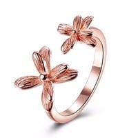 Хермоза ювелирные изделия Новые Мода Стиль элегантная форма цветка 925 серебро цвета розового золота Регулируемый кольцо SVR090-A
