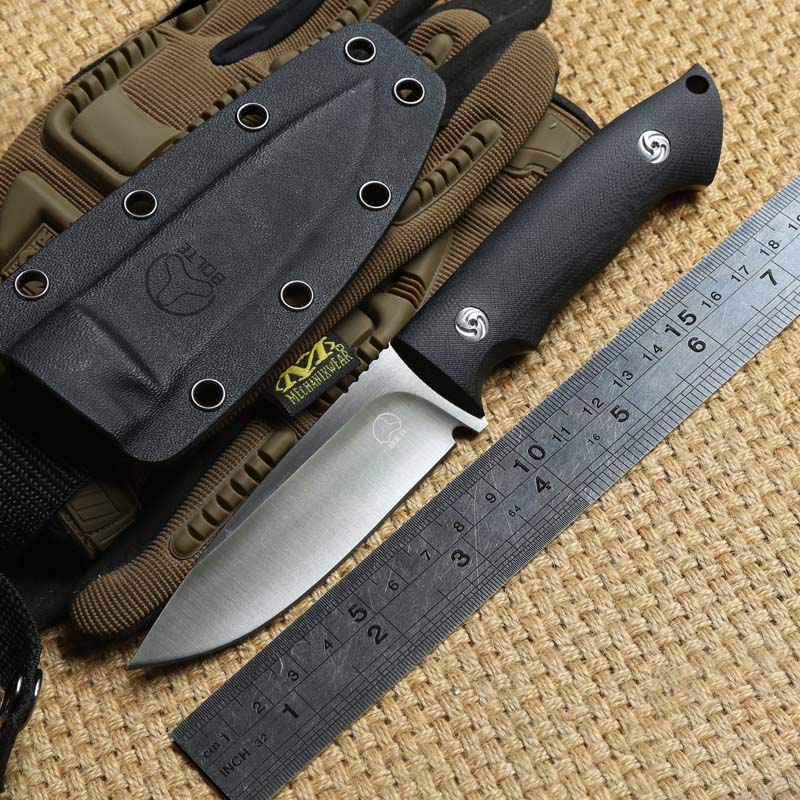 Harmony VG-10 Blade G10 Handle Fixed Blade Hunting Straight Knife KYDEX Sheath Camping Survival Outdoors EDC Knife Tools nighthawk slay vg 10 blade g10 handle fixed blade tactical hunting knife kydex sheath camping survival outdoors edc knives tools