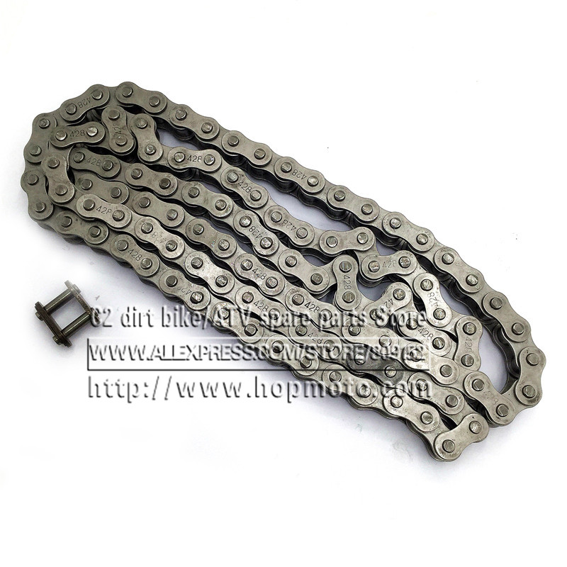 #428 102 104 106 108 110 LINKS DRIVE CHAIN WITH CHAIN RING FOR PIT PRO DIRT BIKE ATV QUAD 125cc 140cc 150cc Chinese