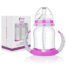 1 Pc PP Baby Bottle 180ml Cute Baby Cup Kids Children Learn Feeding Drinking Water Straw Handle Bottle Sippy Training Cup