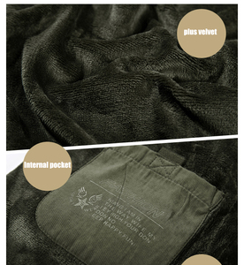 Image 5 - Mannen Winter Jas Dikke Warme Parka Fleece Fur Hooded Militaire Jas Katoen Jas Sneeuw Weer Mannelijke Windjack Jassen Plus Size