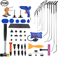 PDR Tools Kit Paintless Dent Removal PDR Hook Tools Spring Push Rod Too To Removal Dents Hail Removal Car Door Dent Repair