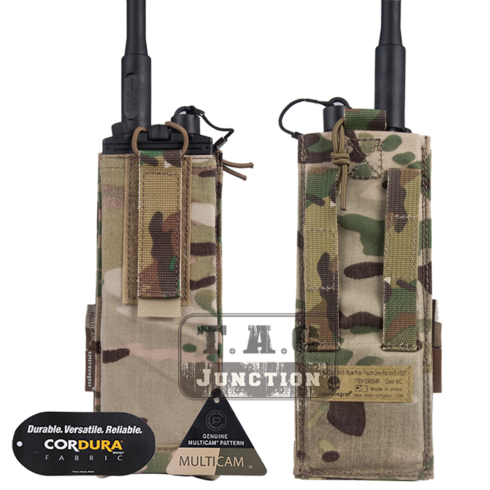 Emerson Tactical MBITR Radio Pouch EmersonGear Walkie Bag Adjustable Talkie Pocket Carrier with Hook & Loop for AVS Vest 2pcs mini walkie talkie uhf interphone transceiver for kids use two way portable radio handled intercom free shipping