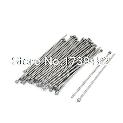 Mould Manufacturing 6mm Tip Silver Gray Straight Ejector Pins 50 PCS 9mm tip straight injection mould ejector pin thimble punching 300mm long 5pcs