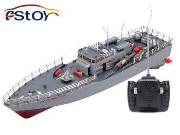 RC лодка 1:115 весы Торпедо лодка модель военного корабля высокое мощность моделирование управляемый ракетный Разрушитель светодио дный свет...