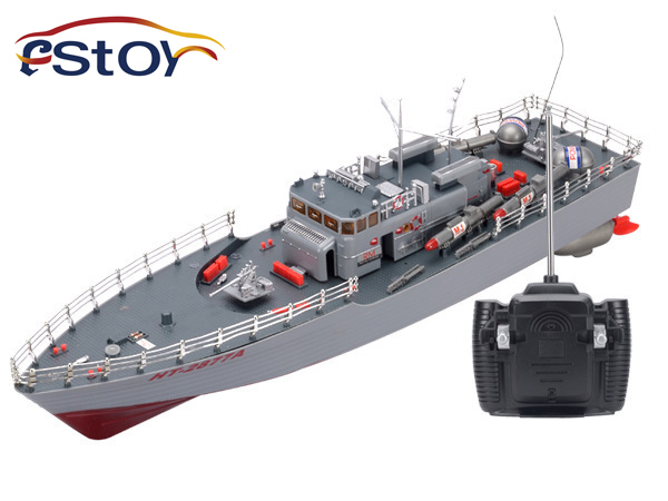 RC Boat 1:115 Scale Torpedo Boat Model Warship High Power Simulation Guided Missile Destroyer Led Light Electronic Toys Hobby цена