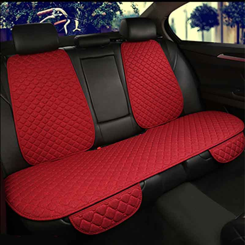 Image 3 - Flax Car Seat Cover Protector Front Rear Seat Back Cushion Pad Mat with Backrest for Auto Automotive interior Truck Suv or Van-in Automobiles Seat Covers from Automobiles & Motorcycles
