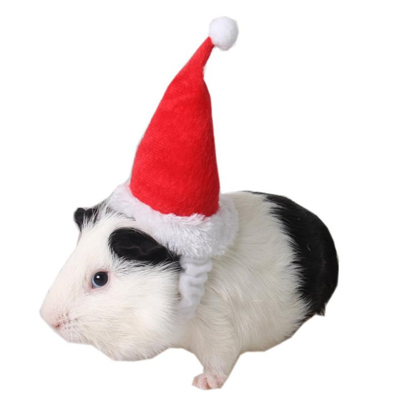 Wedding Cotton Velvet Hamster Hat For Little Pet Guinea Pig Chinchilla Festival Hat Habitat Party Red Hat Decorations Gift