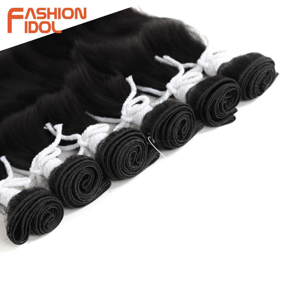 Мода IDOL водные пучки волнистых волос синтетические волосы для наращивания Омбре волосы светлые для наращивания пучки 6 шт./упак. 20 дюймов Бесплатная доставка