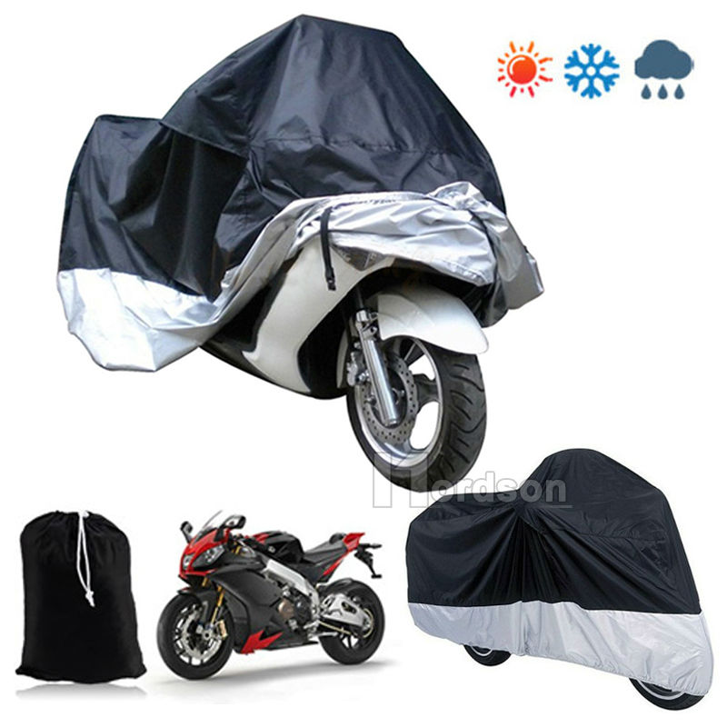 S M L XL XXL Large Motorcycle Cover Moto Bike Moped Scooter Waterproof UV Dust Protector Rain Cover quad bike atv cover black waterproof four wheeler storage cover size l xxl xxxl