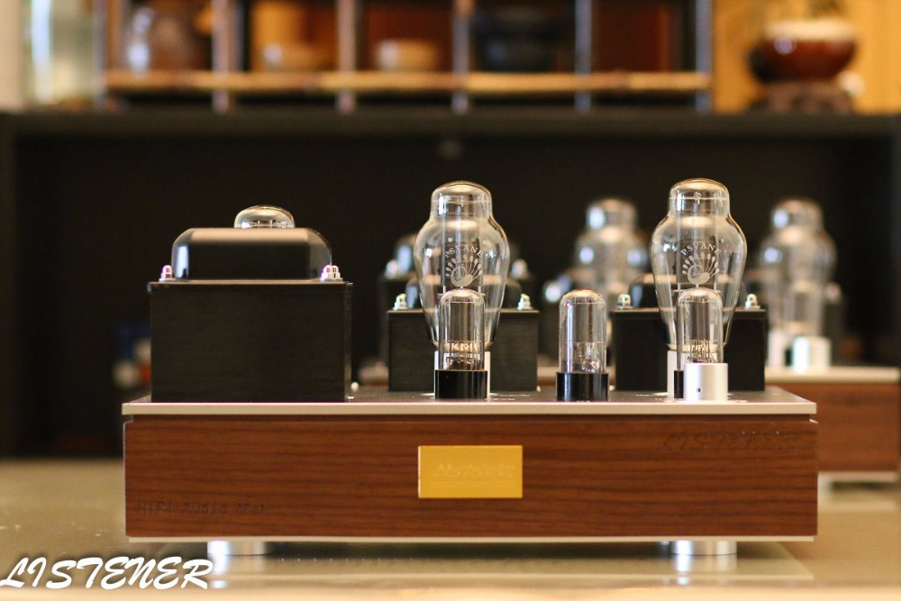 Douk Audio Latest 6SN7/6H8C Push PSVANE 300B Vacuum Tube Amplifier Single-ended Class A Power Amp HiFi