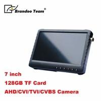 7 inch HD LCD portable CCTV DVR monitor digital video recorder monitor with HDTVI,CVI,CVBS and AHD video input,free shipping
