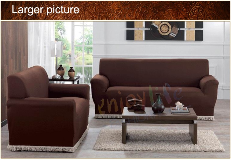Free Shipping Best seller 1 SET Knitted Sofa <font><b>Covers</b></font>/Slipcovers, Made of 95% Polyester and 5% Spandex Fabric <font><b>Chair</b></font>+Loveseat+Sofa