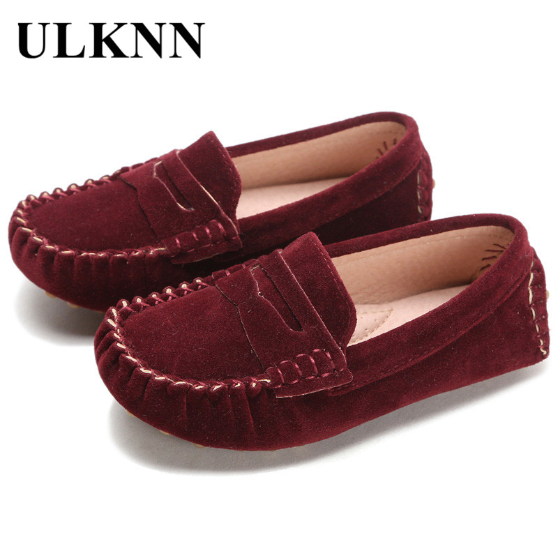 Children Peas Shoes 2017 New Style Leather Fur Kids Shoes For Girls 7 Colors Boys Casual Shoe Fashion Quality Comfortable Baby ...