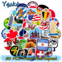 hot deal buy 50 pcs travel stickers for luggage guitar stickers scrapbooking skateboard motorcycle vinyl decal graffiti waterproof stickers