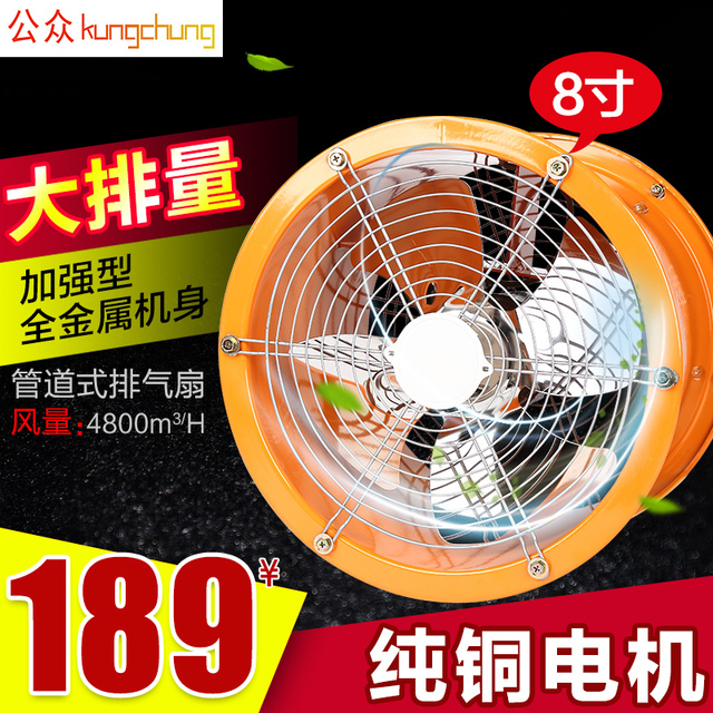 Beau 8 Zoll Rohr Abluftventilator, Küche Ventilator Starke Abluftventilator Für  Haushalt Power Fan