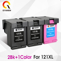 CMYK SUPPLIES 121 Refilled Ink Cartridge Replacement for hp 121 XL for HP Deskjet D2563 F4283 F2423 F2483 F2493 F4213 F4275