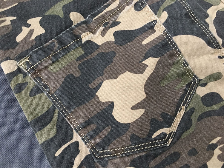 2017 New Brand Women Fitness Cloth Camouflage High Waist Elastic Stretch Holes Jeans Pencil Pants Street Style Denim Trousers (29)