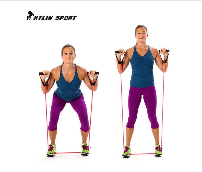 Jogas vingrinājumu pretestības joslas stieptās fitnesa caurules kabelis treniņu jogas muskuļu instrumentam