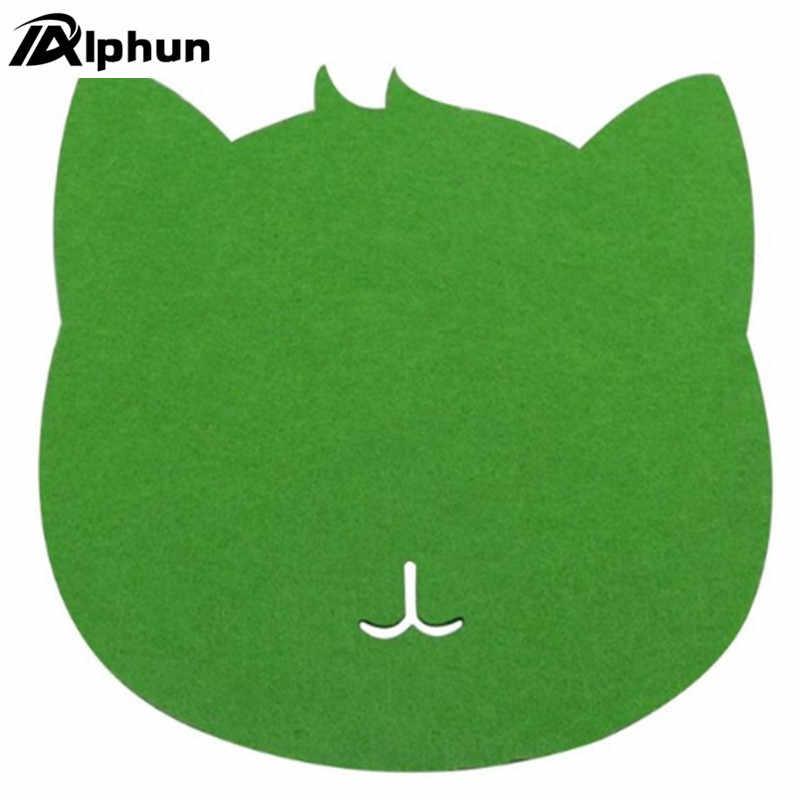 7 色マウスパッド猫シェイプ画像抗スリップノート Pc マウスパッドマットマウスパッド Pc のラップトップコンピュータ用のゲーム光学式マウスマット