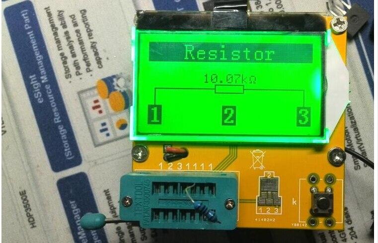 Transistor Probador Capacitancia Resistencia LCR-T3 SCR inductancia Medidor Esr Diodo