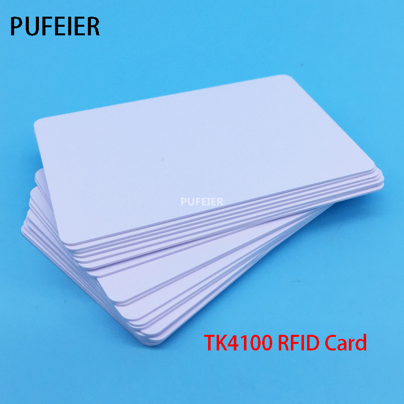 50PCS/Lot RFID Card TK4100 Chip 125 KHZ ID Card Compatible For Access Control Attendance Cards
