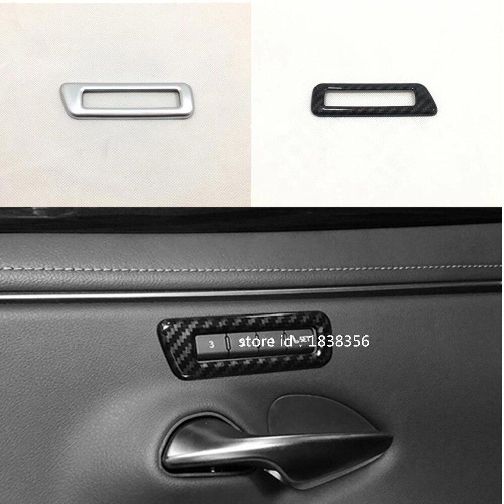 Carbon Fiber Look Interior Seat Memory Button Cover Trim For Lexus ES 2019