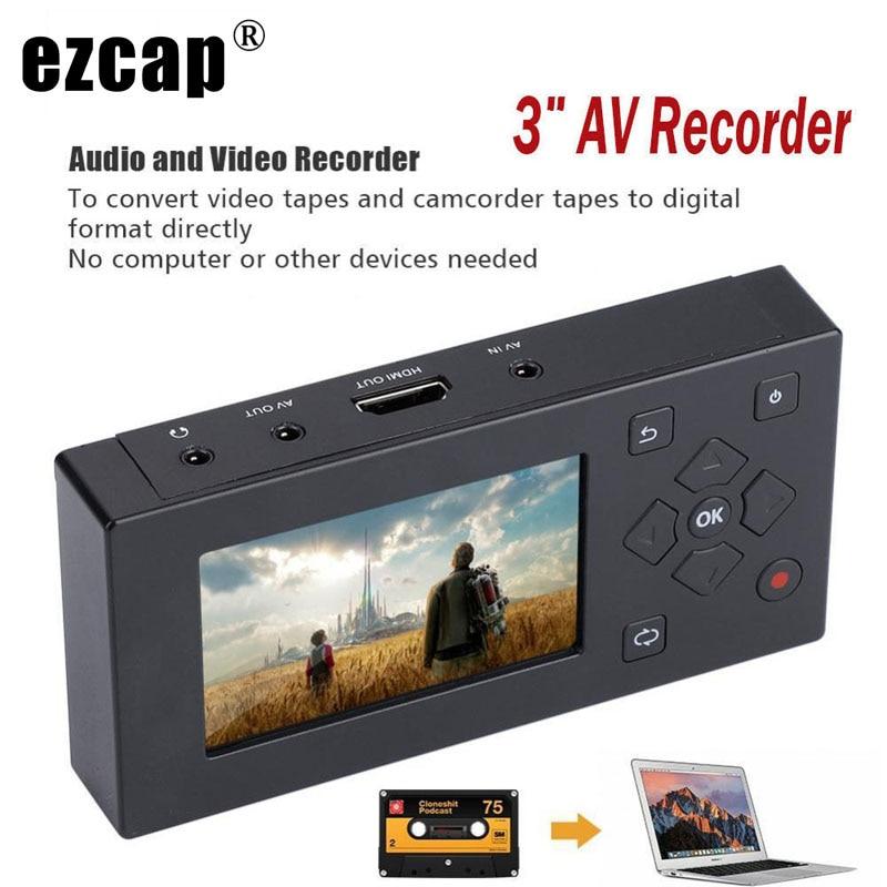 CVBS Audio Video Capture Box Converter AV Recorder VHS VCR DVD DVR Hi8 Game Player Cassette