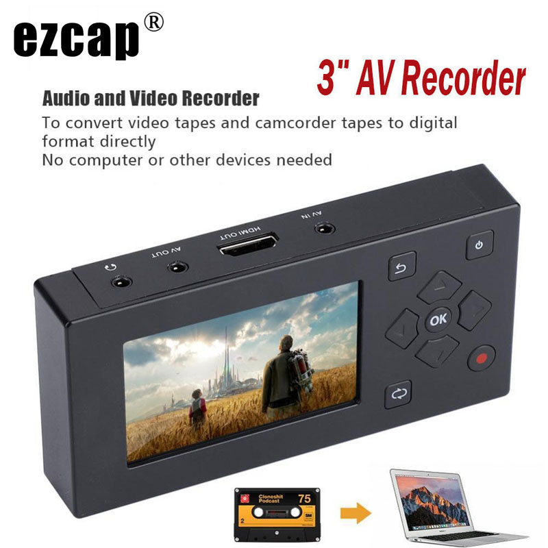 CVBS Audio Video Capture Box Converter AV Recorder VHS VCR DVD DVR Hi8 Game Player Cassette Tape Camcorder to MP3 MP4 HDMI HD TV-in Video & TV Tuner Cards from Computer & Office