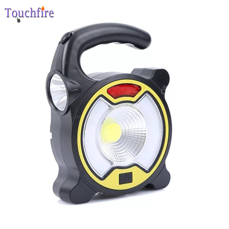 Portable Collapsible 15W COB LED Camping Lantern Outdoor Night Light Hunt Tent Flashlight Camping Lighting Lamp For 2x18650