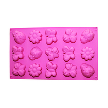 Flower Silicone Soap Mold 15-Cavity Chocolate Candy Mould Handmade Cake Decaration Tools