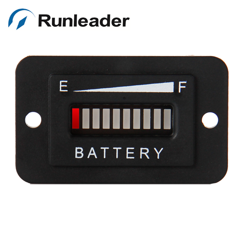 (10pcs/lot) Lead Acid Storage Battery Freeshipping RL BI003 10 Bar LED Battery Charge Indicator 48V for motorcycle golf cart AT-in Instruments from Automobiles & Motorcycles    3