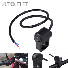 AUTOUTLET 12V 10A Motorcycle Handlebar Headlight Fog Spot Light Waterproof On Off Switch Button Light Switch