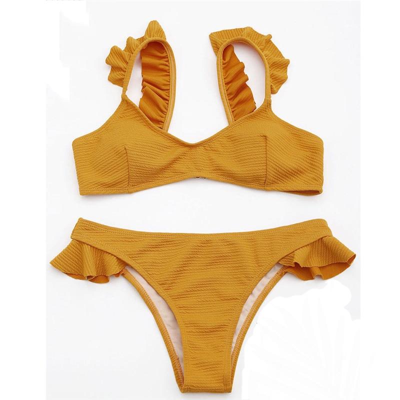 087bcd6c4be1e Sexy solid bikini set female swimsuits 2018 summer beach maillot de bain