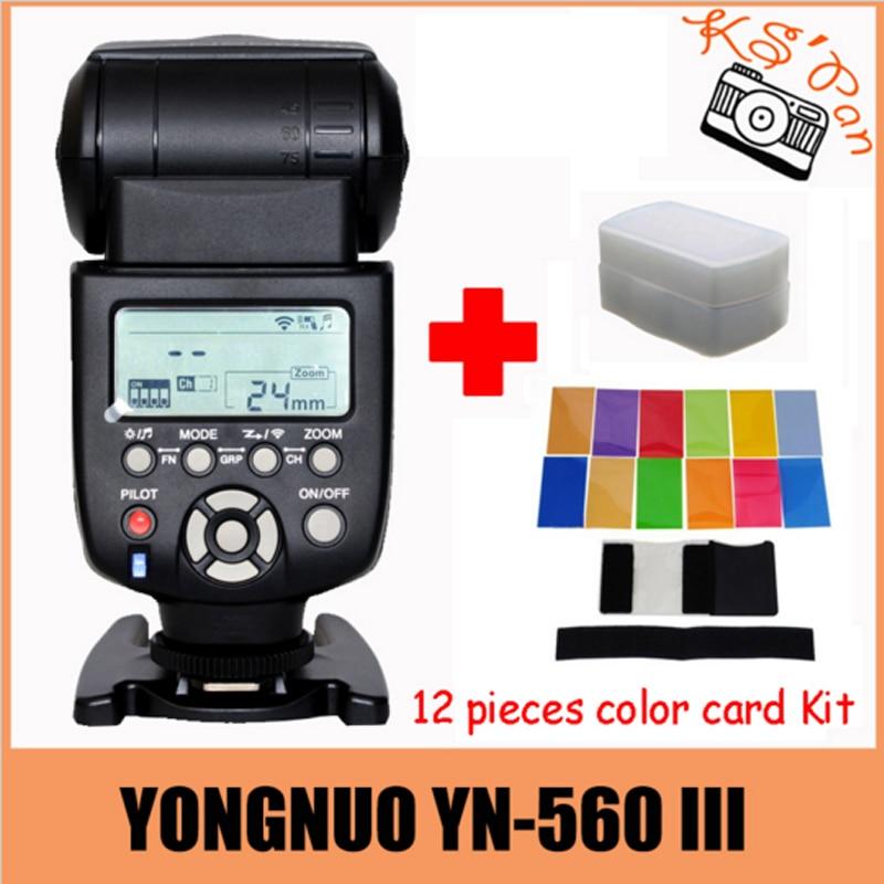 Yongnuo YN-560III YN-560 iii YN 560 III 2.4GHz Wireless Trigger Speedlite Flash For Canon for Nikon Free Shipping with yn e3 rt ttl radio trigger speedlite transmitter as st e3 rt for canon 600ex rt new arrival