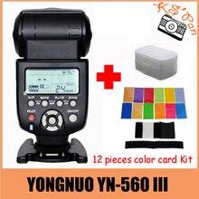 Yongnuo YN-560III YN-560 iii YN 560 III 2.4 GHz Inalámbrico de Disparo de Flash Speedlite Para Canon para Nikon Envío Libre con