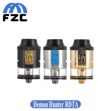 Smokjoy original demon hunter rdta atomizador 25mm 2.8 ml ajustable chapado en oro de 510 resistente tanque cigarrillo electrónico vaporizador kit