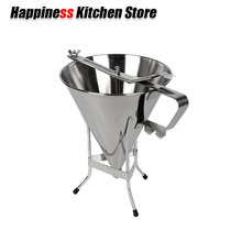 Kitchen Accessories Stainless Steel Octopus Funnel Oil Funnel Takoyaki Octopus Ball Tool Baking Tool Fast Delivery jiqi octopus balls filler takoyaki stainless steel filling funnel manual waffle batter separator chocolate cream baked hopper