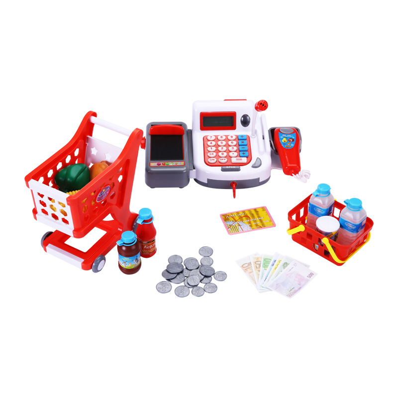 40pcs Kids Pretend Play Baby Simulation Cash Register Toy Girl Boy Supermarket Cash Register Kids Children Supermarket Toys Gift c 50 electronic cash registers cash register pos cash register 8v multifunctional catering cash register for supermarket milktea