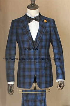 417520804ec5d2 Custom Made high quality 150's worsted pure wool windowpane check Suit Men  Slim Fit Suit 22 color