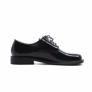 Image 3 - 2021 Fashion Brand Shoes Genuine Leather Thick Heel Spring Strange Style Women Pumps Round Toe Lace Up British School Shoes L73