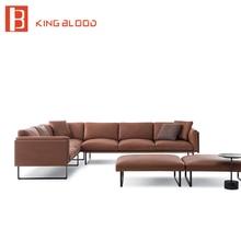 latest italy natuzzi living room nappa leather corner sectional sofa