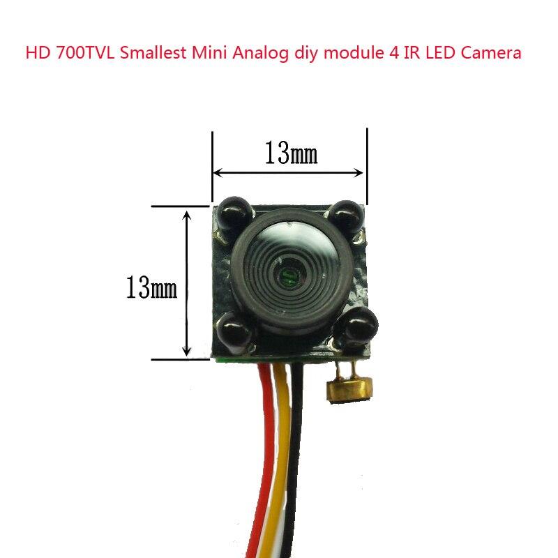Novo HD 700TVL Menor Mini diy Analógico módulo 4 IR DIODO EMISSOR de Luz Versão Noite câmera de cctv câmera de vídeo de Vigilância de Segurança Em Casa câmera