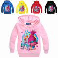 2017 New Arrivals Boys Clothes Troll Girls Hoodies and Sweatshirts Poppy New Year Clothes Kids Children Clothing