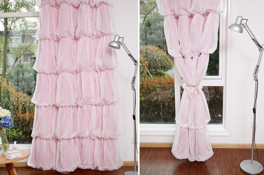 Custom prinses beauty koreaanse stijl schaduw gordijn voor