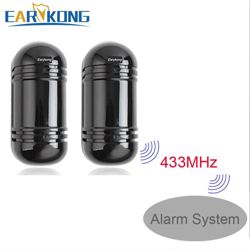 Outdoor Waterproof Infrared Beam Detector, 433MHz Wireless / Wired detector, infrared barrier Detector
